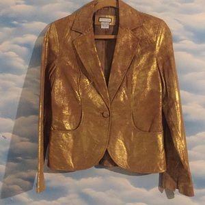 NWOT Mythology Golden size 4 suede leather jacket